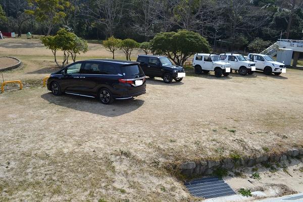 田ノ浦野営場の駐車場