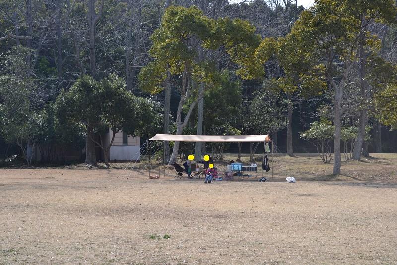 田ノ浦野営場のデイキャンプの様子