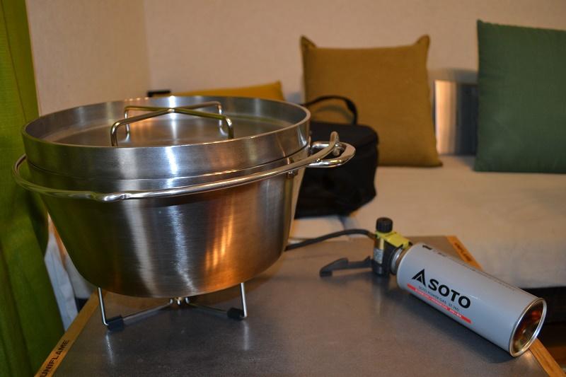 SOTO ST-301のダッチオーブン使用時の画像