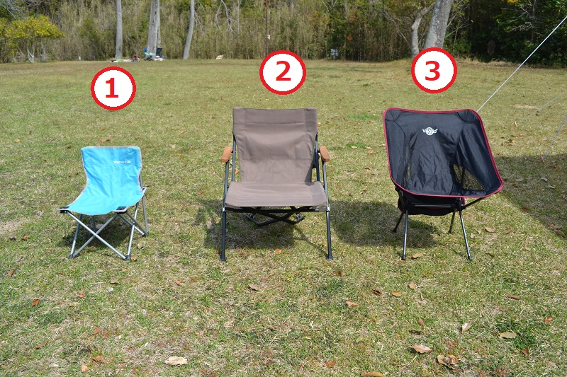 比較する3種の椅子