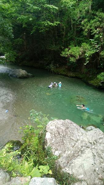 泳げるコットンフィールドの川その1