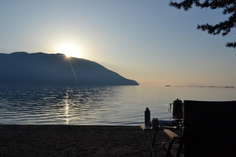 朝の琵琶湖が格別