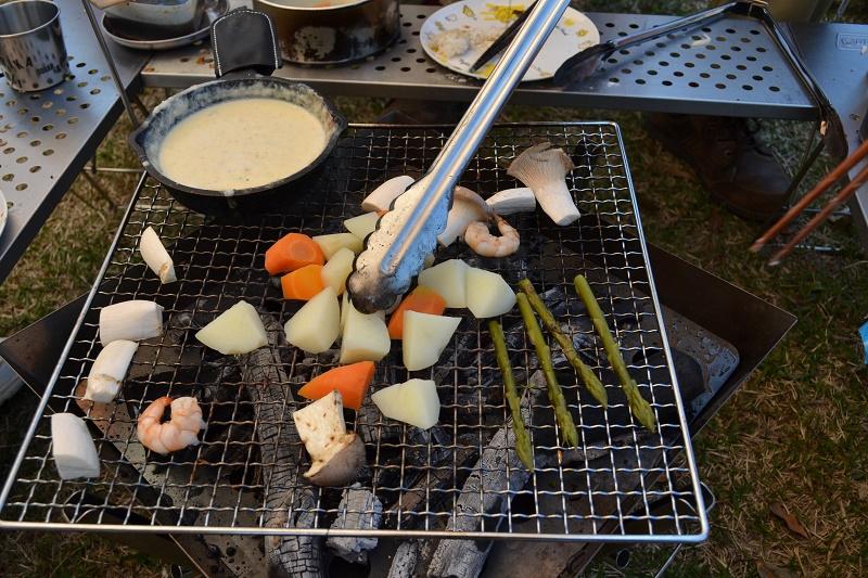BBQのついでに色んな野菜等を焼いて付けるのがおススメ