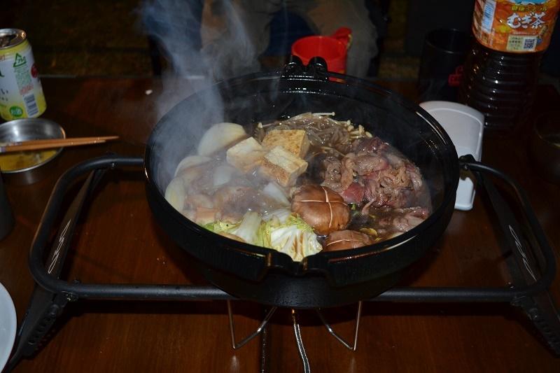 晩御飯はすき焼き