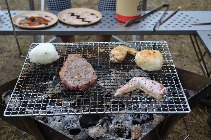 五色台キャンプでの夕食