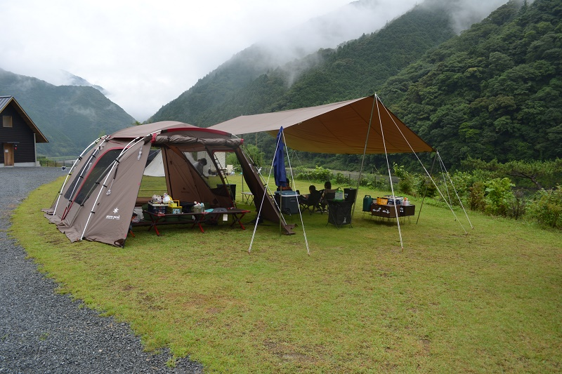 おち仁淀川キャンプの様子20年6月27日