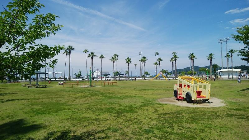 広い遊び場が有るマリンパーク新居浜